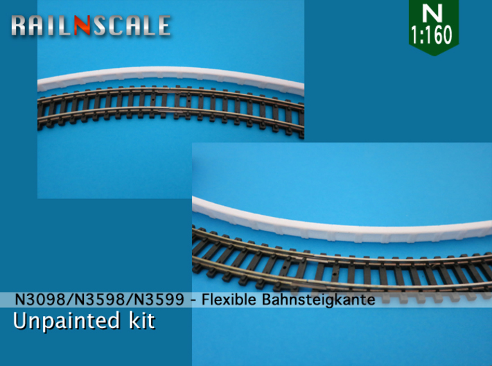 SET Flexible Bahnsteigkante (N 1:160) 3d printed
