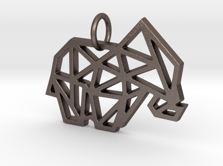 Geometric Elephant Keychain 3d printed