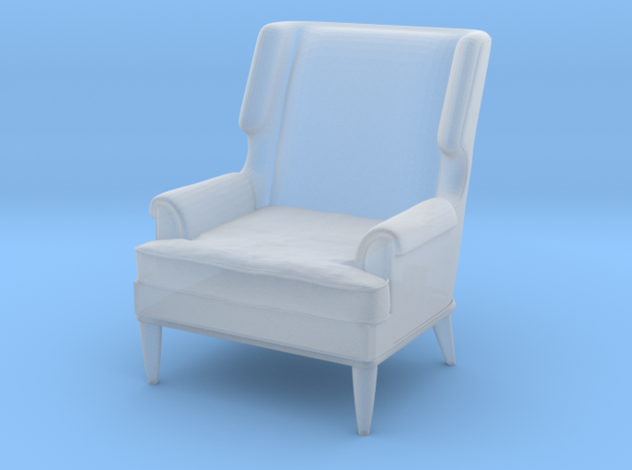 1:48 Leather Club Chair 3d printed
