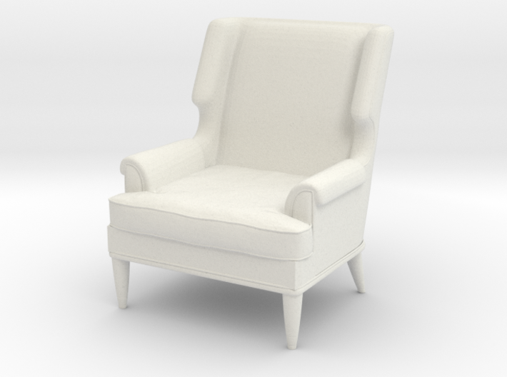 1:24 Leather Club Chair 3d printed