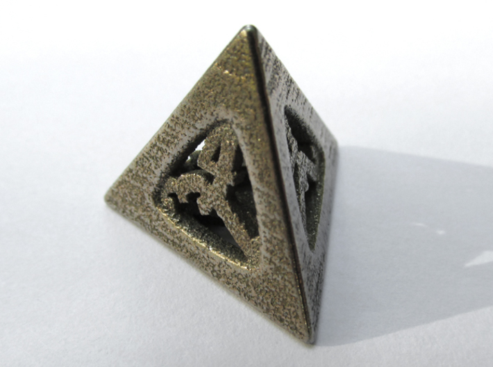 Thoroughly Modern Die4 3d printed In Stainless Steel