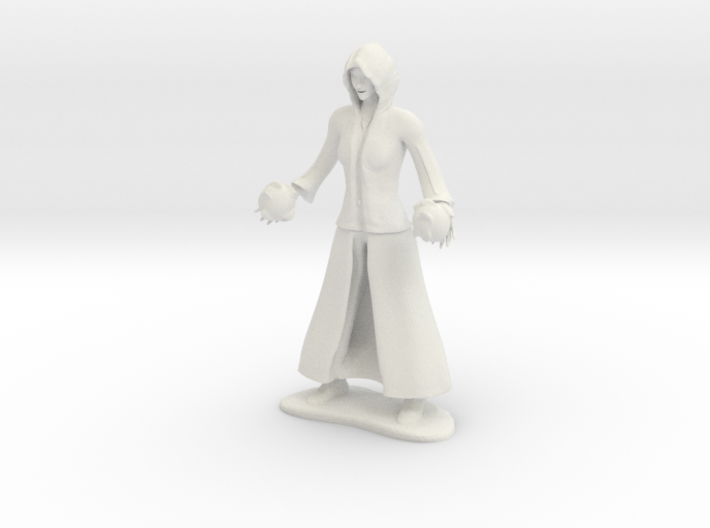 Female Fire Mage 3d printed