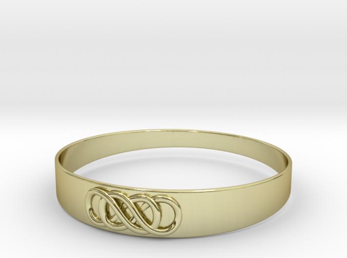 Double Infinity Bracelet ver.2 51mm inside 3d printed