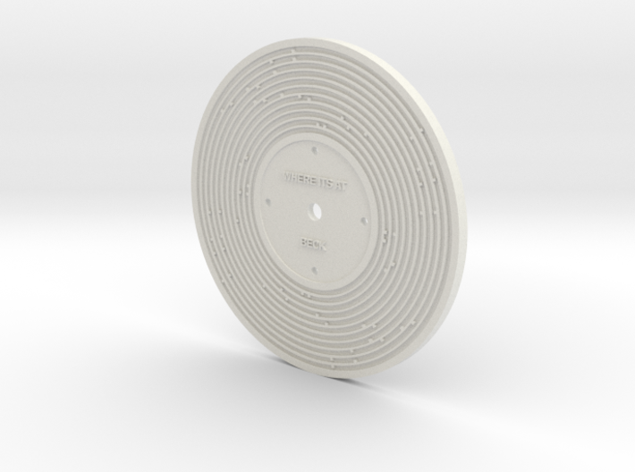 Custom Fisher Price record 3d printed White
