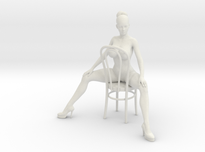 1/18 Girl Sitting Chair 3d printed