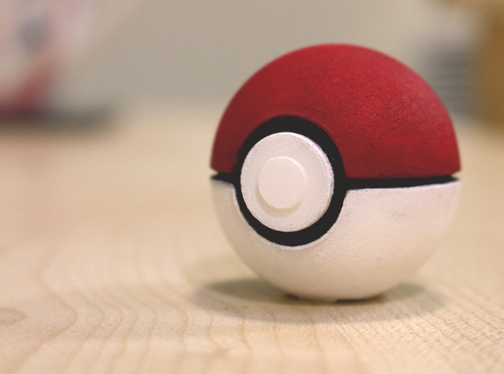 Pokeball - I Choose You 3d printed Painted in acrylics