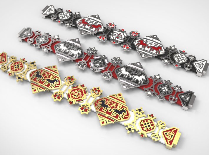 Russian Embroidery Ornament Bracer 3d printed