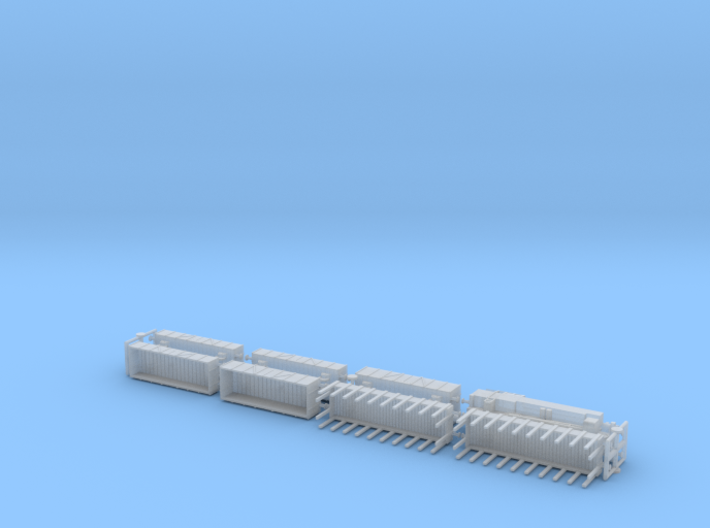 Mixed Freight Train Set 1 1/285 6mm 3d printed