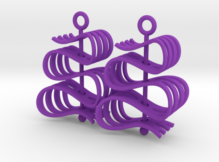 Ribbon -- Earrings that spin 3d printed