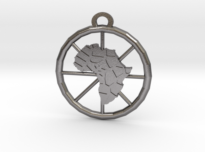 Africa Pendant 3d printed
