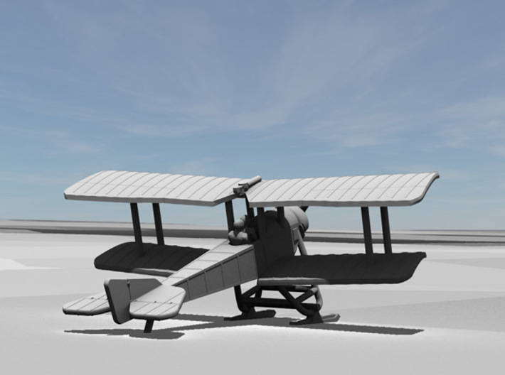 Sikorsky S-16 with skis [resting position] 3d printed Computer render of 1:144 Sikorsky S-16