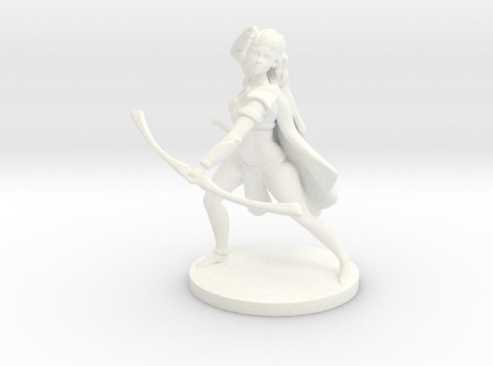 Pathfinder / D&D Female Forest Elf Ranger 3d printed