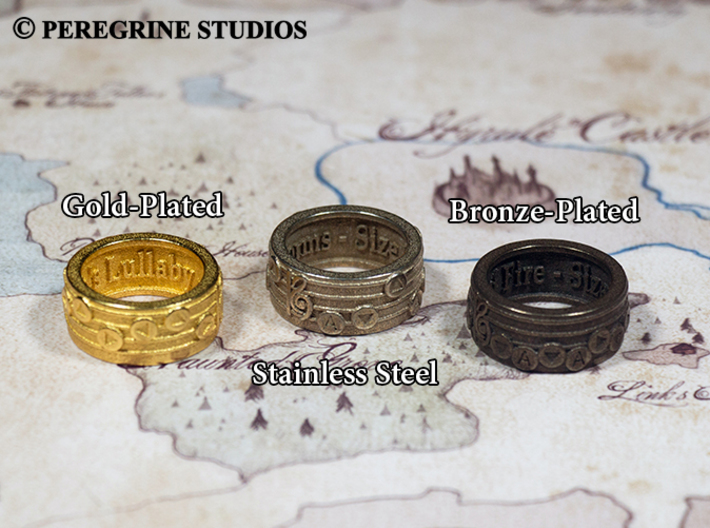 Ring - Song of Healing 3d printed