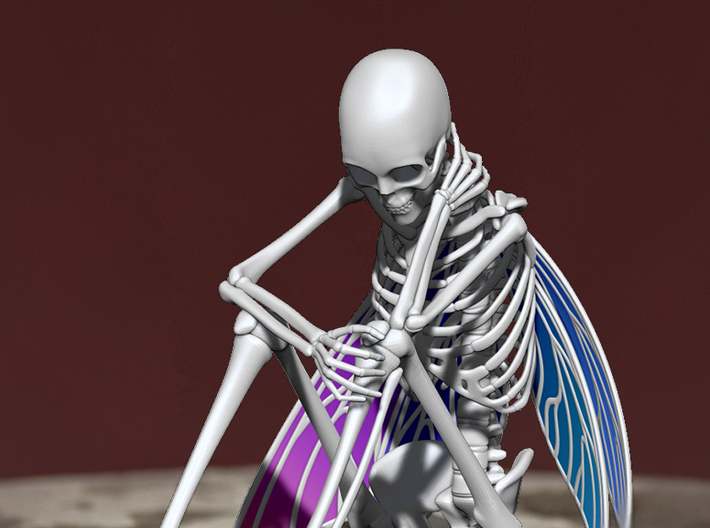 Fairy Skeleton 3d printed Zbrush Render