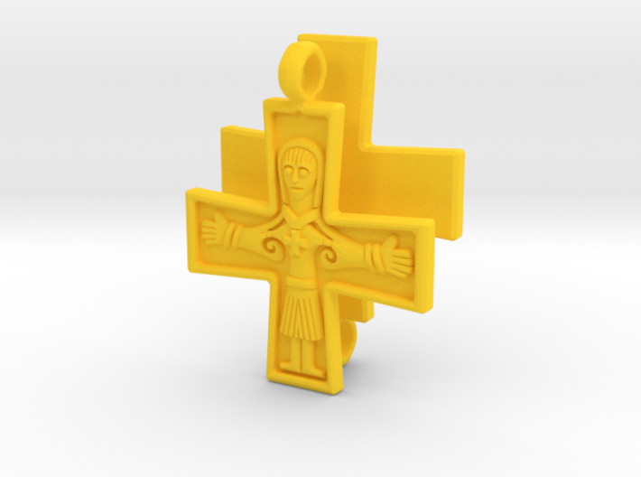 Virgin Mary Cross pair 3d printed