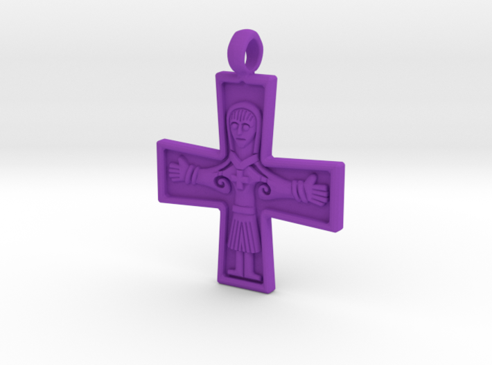 Virgin Mary Cross Pendant 3d printed