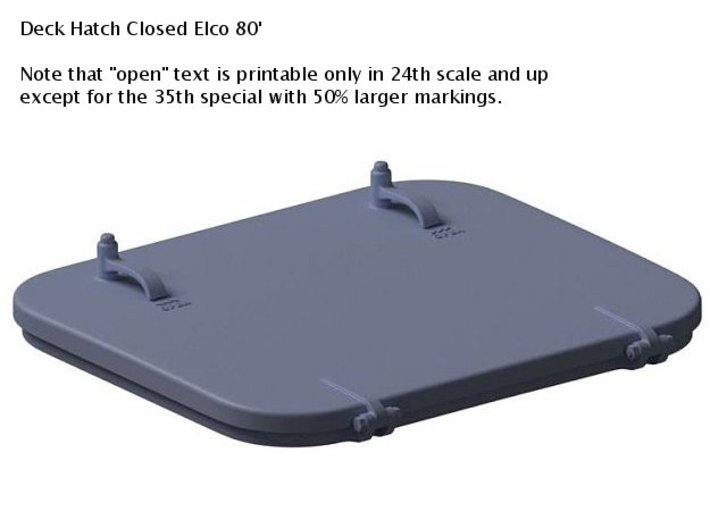 Deck Hatches Closed 1/16th Elco 80' Qty 3 3d printed