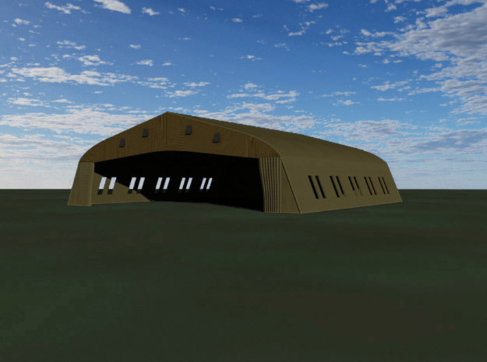 Bessonneau Hangar, 6-Bay 3d printed Computer render of 6-bay Bessonneu Hangar