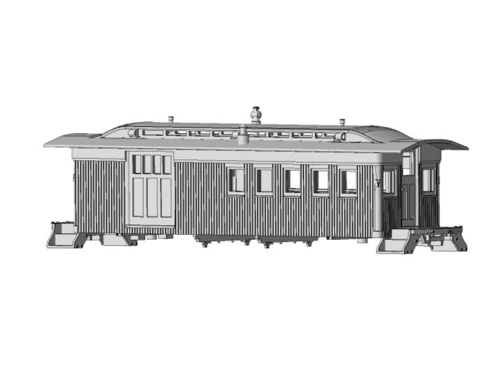 HOn3 - Carter Bros. SPC 45 thru 48 Caboose 3d printed Assembled model
