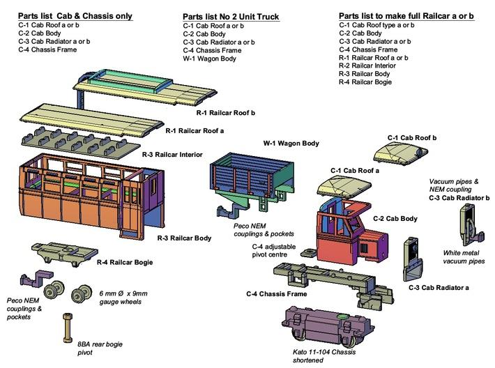 Cab Body (Part C-2) 3d printed