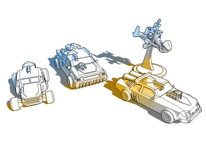 Thunder Road Gyro 3d printed Thunder Road Vehicles
