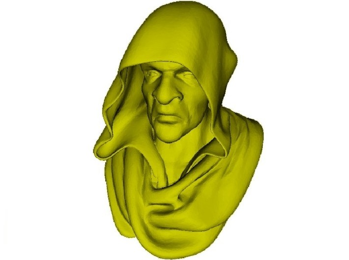 1/9 scale medieval Franciscan friar monk bust 3d printed