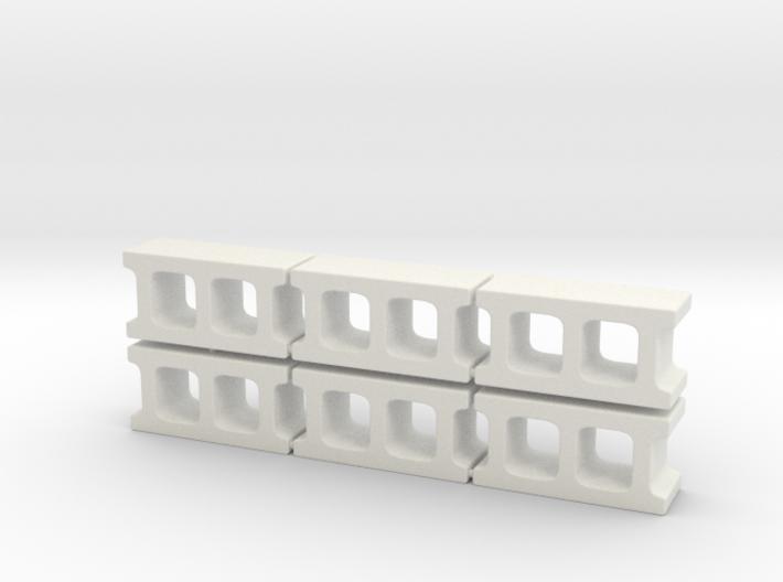 1:12 Cinder blocks set of 6 for diorama 3d printed