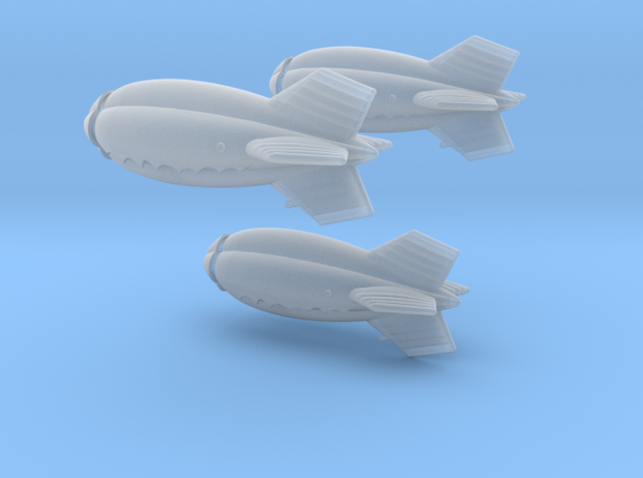 US Barrage Balloon 1/700 Set of 3 3d printed