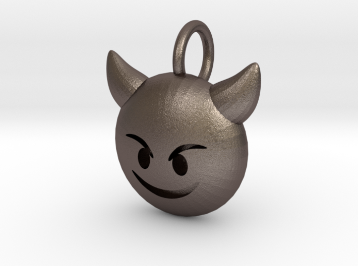 Dime Sized Emoji Smiling Imp 3d printed