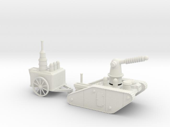 15mm AQMF EDISON / TESLA LIGHTNING TANK MK 1A 3d printed