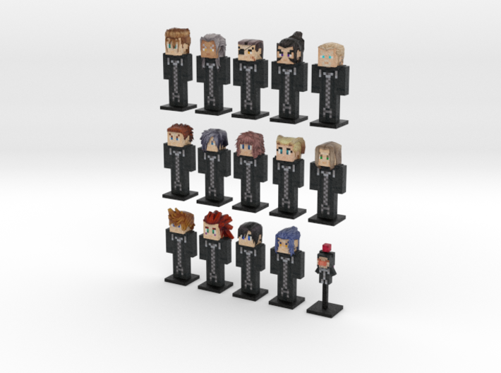 Organization XIII- 15-pack (Weaponless) 3d printed