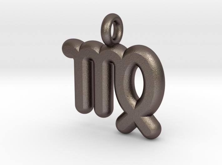 Virgo Symbol Keychain 3d printed