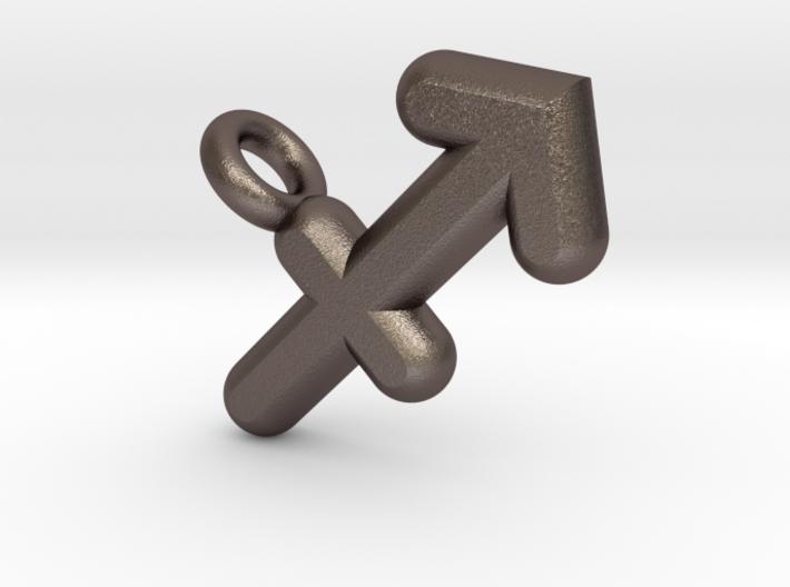 Sagittarius Symbol Keychain 3d printed