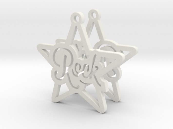 Rockstar Earrings 3d printed