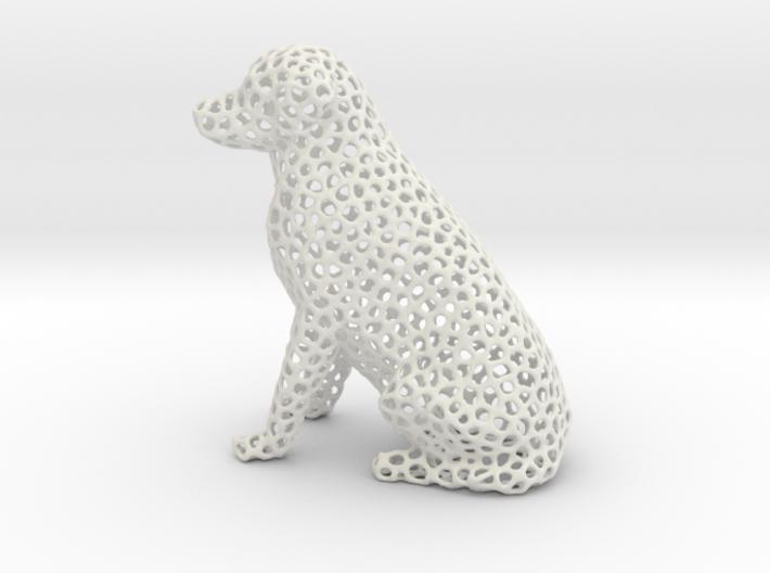 Voronoi Labrador Retriever Dog (Medium) 3d printed