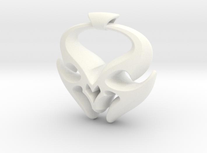 Sheep Horns Pendant 3d printed