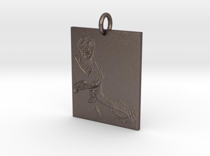 LbJ Pendant 3d printed