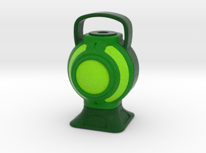 Green Lantern Battery 3d printed