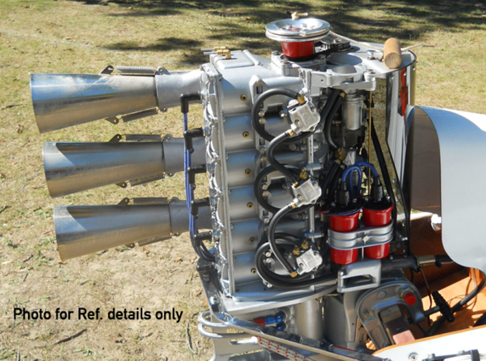 EXHAUST PIPES - MERCURY MARK 75 6-CYLINDER 3d printed