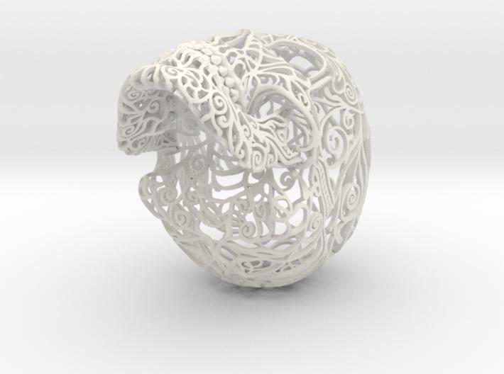Skull Filagree v1 - 12.7cm 3d printed