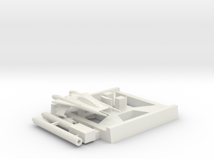 Thunder Fighter, X-Wing Base (Buck Rogers), 1/270 3d printed