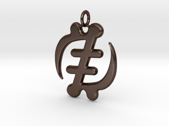 Gye Nyame Pendant (wearable steel) 3d printed