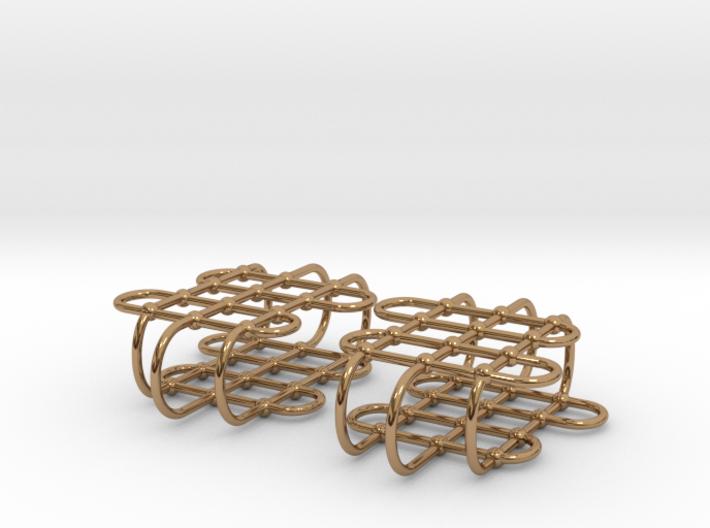 Jungle Gym -- Precious Metal Earrings 3d printed