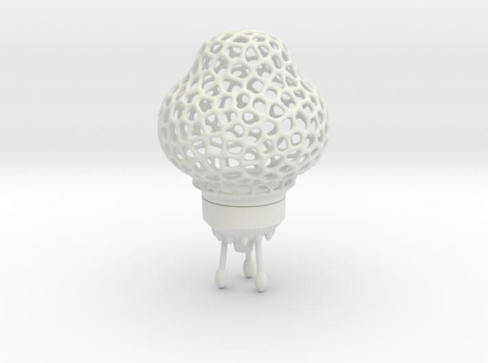 Big Space-Rocket-Lamp (37 cm high, 3 parts) 3d printed
