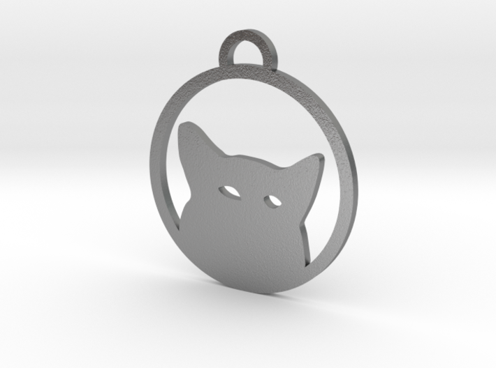 Henry the puppy, keychain wolf silhouette 3d printed