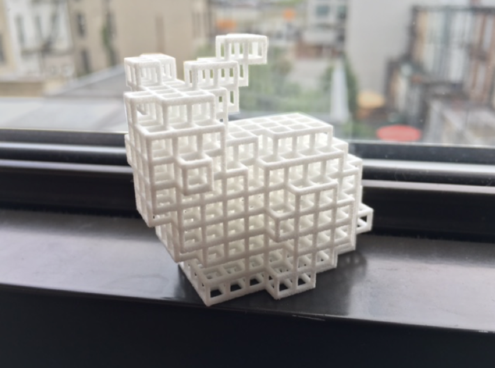 Voxel Bunny 3d printed
