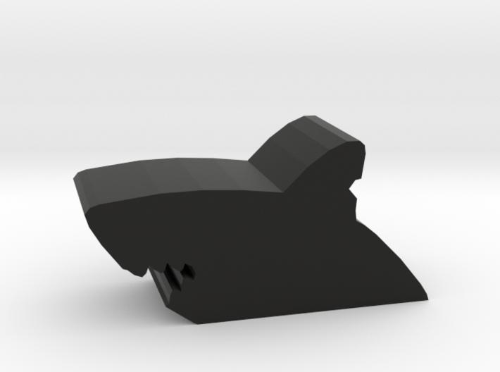 Game Piece, Shark Bite 3d printed