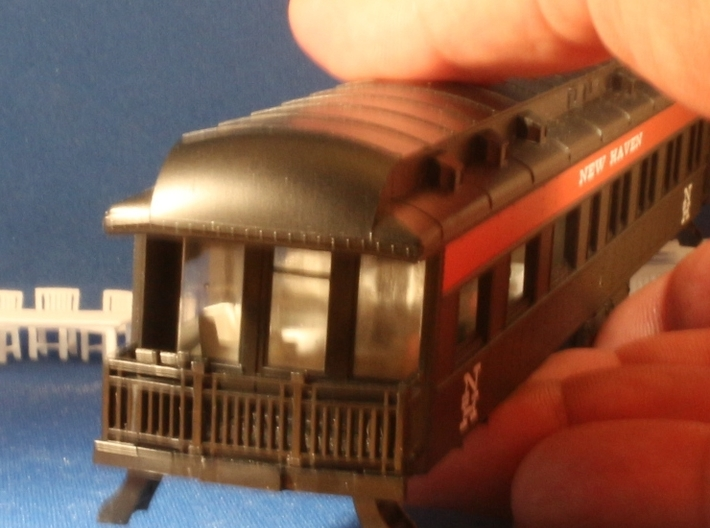 Athearn Pullman Observation car interior HO Scale 3d printed