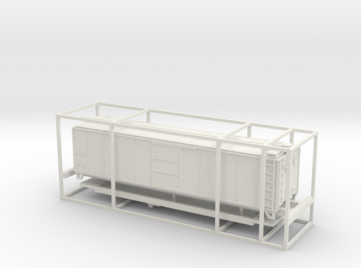 PRR N Scale X29 Boxcar Coarse Details 3d printed