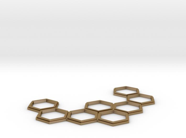 HEXset Necklace 3d printed